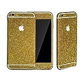 iphone 5s スキンシール アイフォンスキン 全面シール カラフル スキンシール(前面/背面) ダイヤモンド柄 キラキラ iphone5S スキンシール(全面360°) For iphone 5G 5S (金色)