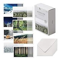Monolike Message card メッセージカード ポストカード Forest カード40枚封筒20枚セット