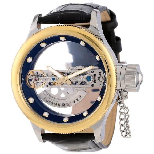 [インビクタ] Invicta 腕時計 Russian Diver Collection ロシアン ダイバー コレクション 中国製,自動巻 14213 メンズ 日本語取扱説明書付き [バンド調節工具&高級セーム革セット]【並行輸入品】