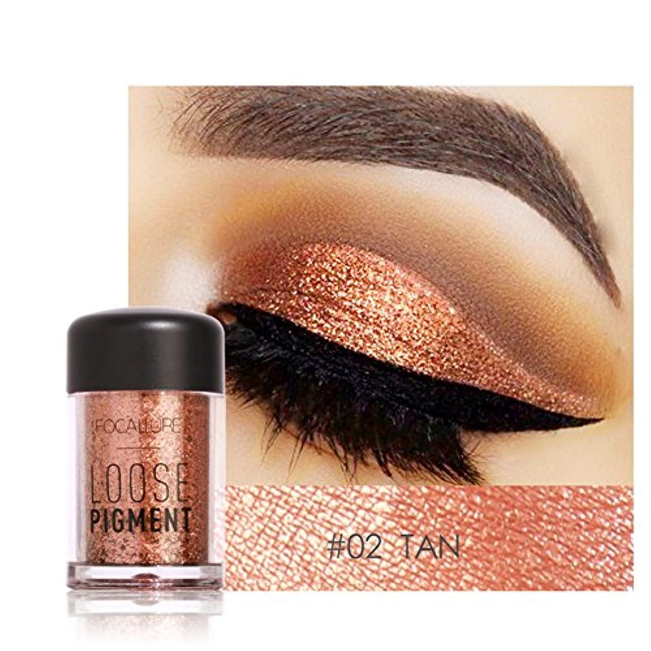 アイシャドウ、12色キラキラアイシャドービューティーアイ顔料ピグメントパウダー唇ルースメーキャップ化粧品(#2)