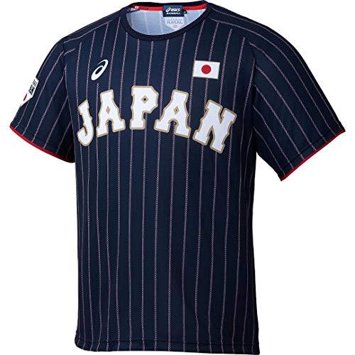 アシックス(asics) 野球 侍ジャパンユニフォームTシャツ 半袖 BAT713 サムライネイビー(ビジター) 2L(O)