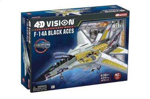 1:32 Fame マスター 4D Vision 26127 Grumman F-14A トムキャット Snap Kit USN VF-41 黒 Aces, AJ100, USS Nimitz, 19
