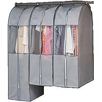 アストロ 洋服カバー マチ付き グレー クローゼットにまとめて収納できます! (スーツ用×2 ロング用×1) 600-21