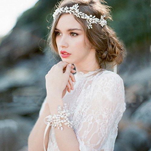 OSHIDE ブレスレット 髪飾り カチューシャ 娘の冠 ヘ...
