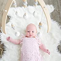 GoodFaith ベッドメリー ベッドベル 幼児用寝具メリー ビーズ風鈴 知育玩具 木質 北欧風 キッズ 吊り下げ式 出産祝い 新生児 誕生日 プレゼント
