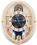 SEIKO CLOCK (セイコークロック) 掛け時計 電波 アナログ からくり トリプルセレクション・メロディ 回転飾り 薄金色 RE572S