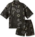 (カブク)KABUKU キッズ甚平 歌舞伎紋 KBK-1745 002BK ブラック 110