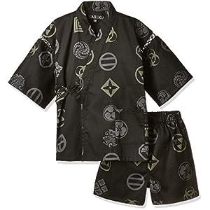 (カブク) KABUKU キッズ甚平 歌舞伎紋 KBK-1745 002BK ブラック 120