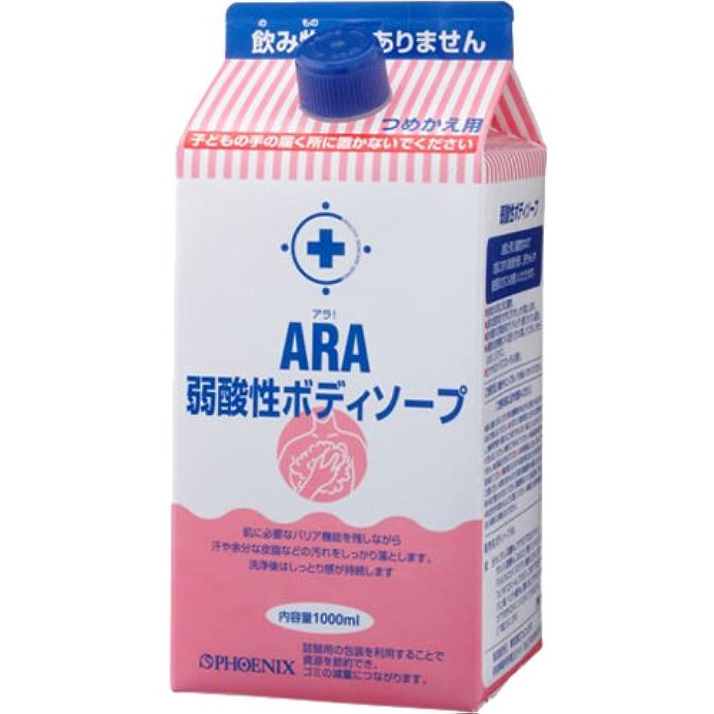 分数ソート幼児ARA 弱酸性ボディソープ (詰替え用) 1000ml×12入り