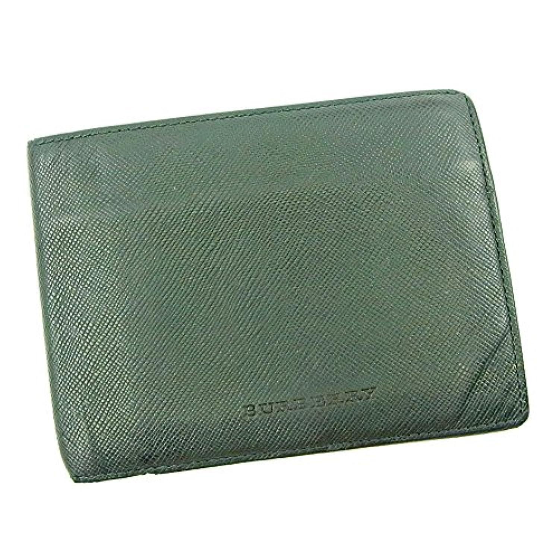バーバリー BURBERRY 二つ折り 財布 レディース メンズ 可 ノバチェック 中古 S682