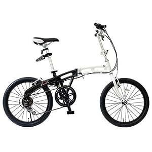 DOPPELGANGER(ドッペルギャンガー) 20インチアルミフレーム折り畳み自転車 クリアホワイト×ジェットブラック 202