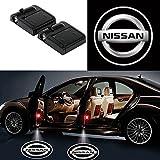 Alichee LED ドアカーテシランプ レーザーロゴライトドアウェルカムライト カーテシライト 2件套 (ニッサン Nissan)