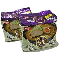 日清ラ王 まるで生麺 魚介だし香る 豚骨醤油 もちもち極太麺 5食パック × 2(合計10食分)