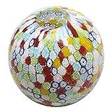 イタリア製 ベネチアンガラス ムラーノグラス ベネチアングラス 花瓶「FIORE MURRINA PALLA」カラフル 高級 花 フラワー 新築祝い