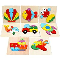 おもちゃ - 木製3Dパズル早期学習啓発玩具爽快開発幼児のおもちゃ - 1-2-3歳の玩具男の子と女の子のおもちゃギフト