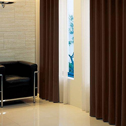 窓美人 アラカルト 1級遮光カーテン ビターチョコレート 幅150×丈178cm ※1枚入※ 片開き フック タッセル 断熱 省エネ 高級感のある生地