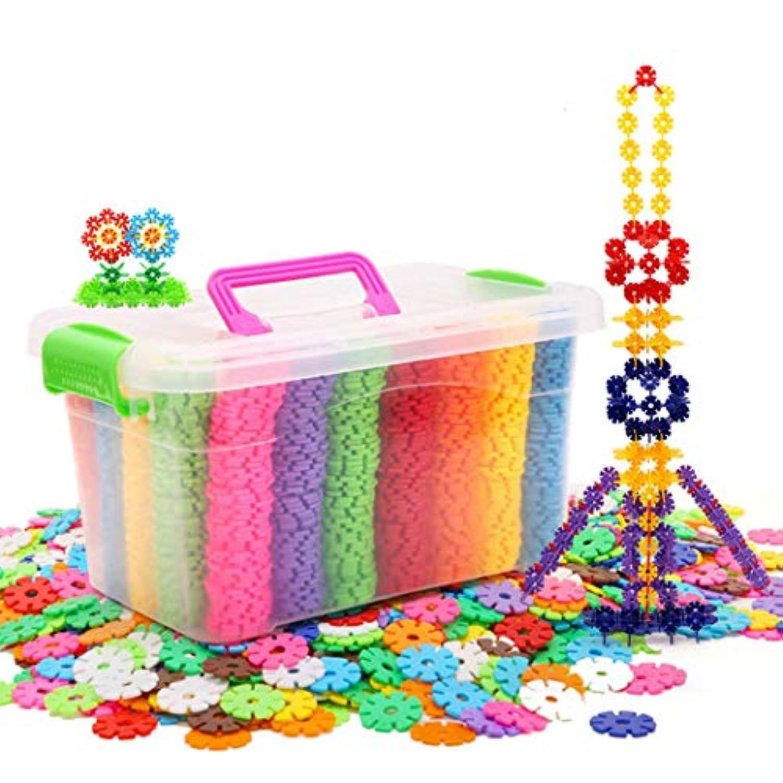 スノーショップ プラスチック 雪の結晶 ビルディングパズル ブロック 教育的 クリエイティブ 脳のフレーク 赤ちゃん 子供 おもちゃ