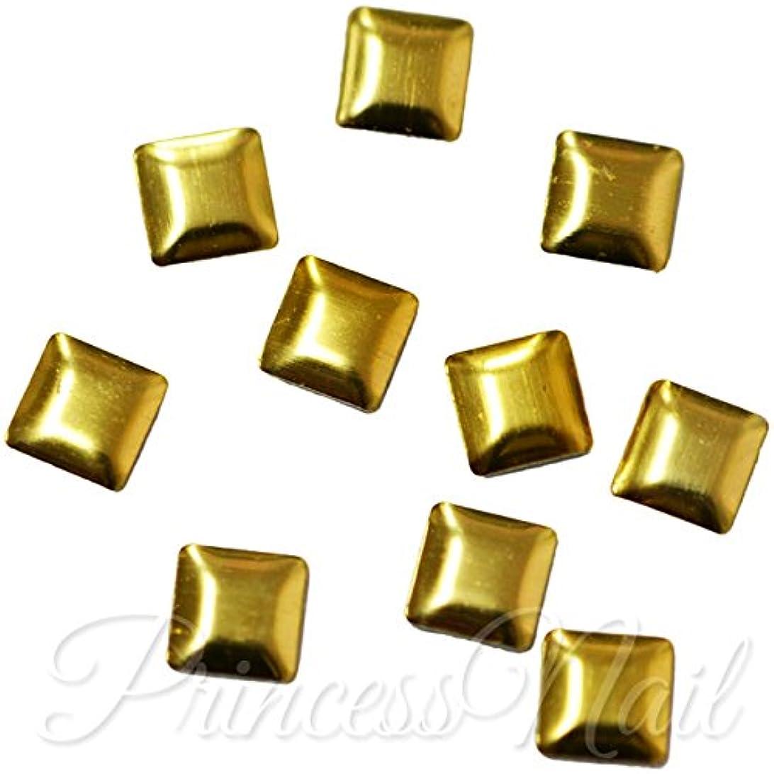 百ラリーベルモントお勧めメタルスタッズ 4mm スクエア ゴールド 約40粒