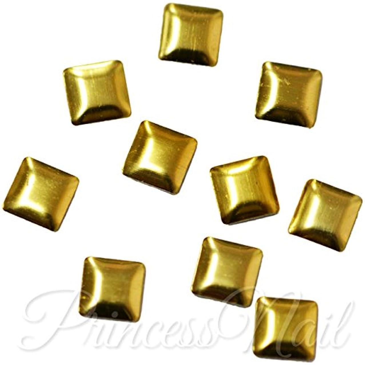 つかいます休日にこっそりメタルスタッズ 4mm スクエア ゴールド 約40粒