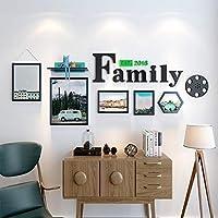 木製フォトフレームフォトウォール、合計218x83cmの装飾されたヨーロッパの小さな新鮮な家族の手紙、ダイニングルームのベッドルームのリビングルームの装飾 (サイズ さいず : A)