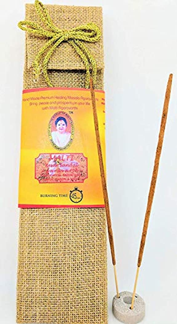 火山影響する世代Kesar Sandal Incense Sticks in Premium Jute Bag