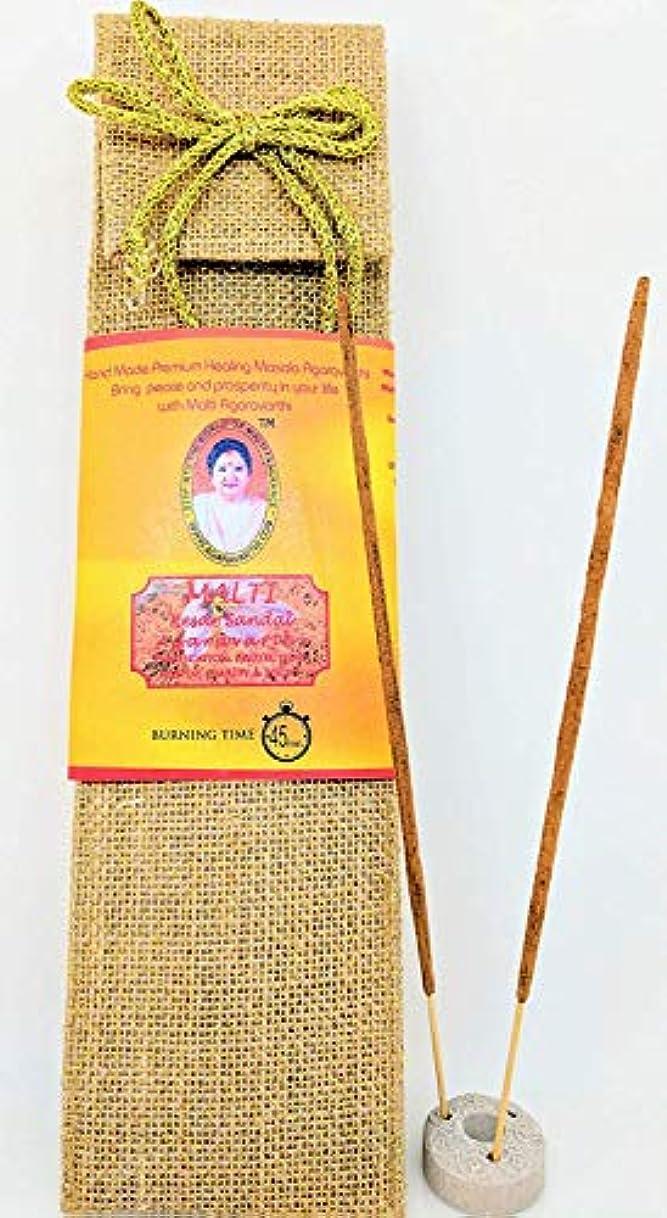 旅行公平なオーバードローKesar Sandal Incense Sticks in Premium Jute Bag