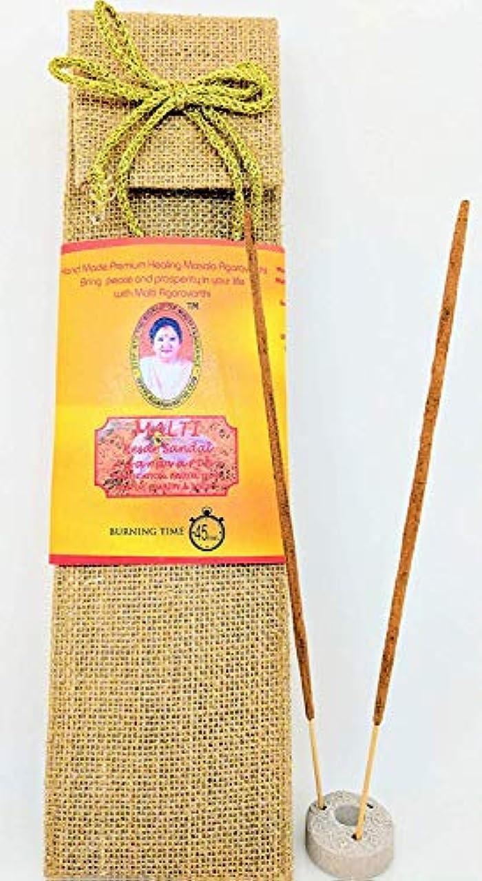 お別れ買収中にKesar Sandal Incense Sticks in Premium Jute Bag