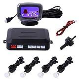 Yokkao パーキングセンサー バックセンサー モニター付き LCDディスプレイ 12V 車用 警報システム 四つのセンサー 白