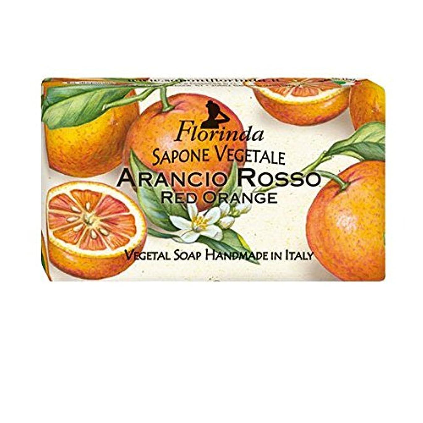 ストローク端末長方形Florinda フロリンダ フレグランスソープ フルーツ レッドオレンジ 100g [並行輸入品]