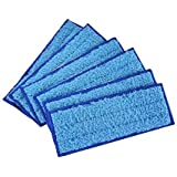 10 Pack Microfiber Washable Wet Mopping Pad, Reusable Wet Cloth Mopping Pads Replacement for iRobot Braava Jet 240/241