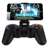 NHsunray Bluetoothのゲームコントローラと電話クリップワイヤレスリモート充電式ゲームパッドコンソールジョイスティックジョイパッドのPCタブレットノートパソコンのパッド/ギアのVR /エミュレータ/アンドロイド/ IOSの電話