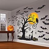 Amscan ハロウィン 装飾 飾り デコレーション 壁紙 こうもり かぼちゃ 木 お化け屋敷 肝試し