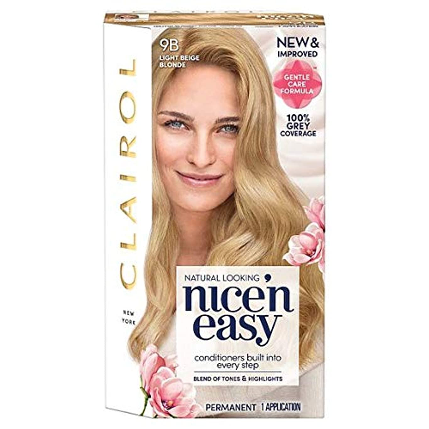 けん引飛行場名前を作る[Nice'n Easy] クレイロール素敵な「N簡単にライトベージュブロンド9Bの染毛剤 - Clairol Nice 'N Easy Light Beige Blonde 9B Hair Dye [並行輸入品]
