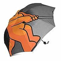 "hanggongq折りたたみ式傘、自動雨コンパクトトラベル傘防風、軽量、Auto Open 37.4"" W x 11.42"" H"