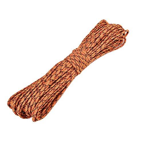 Powfit パラコード 4mm 30m 9本の芯 パラシュートコード 耐荷重 250kg テント ロープ 綱 靴紐 靴ひも ブレスレット作り タープ 防災グッズ