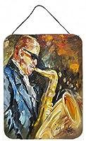 "Caroline 's Treasures Jazz Saxophone壁またはドア吊り下げPrints、16"" x 12"""