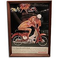 ホンダ スーパーカブ 1960年代 ビンテージ広告 ポスター アートフレーム 額付