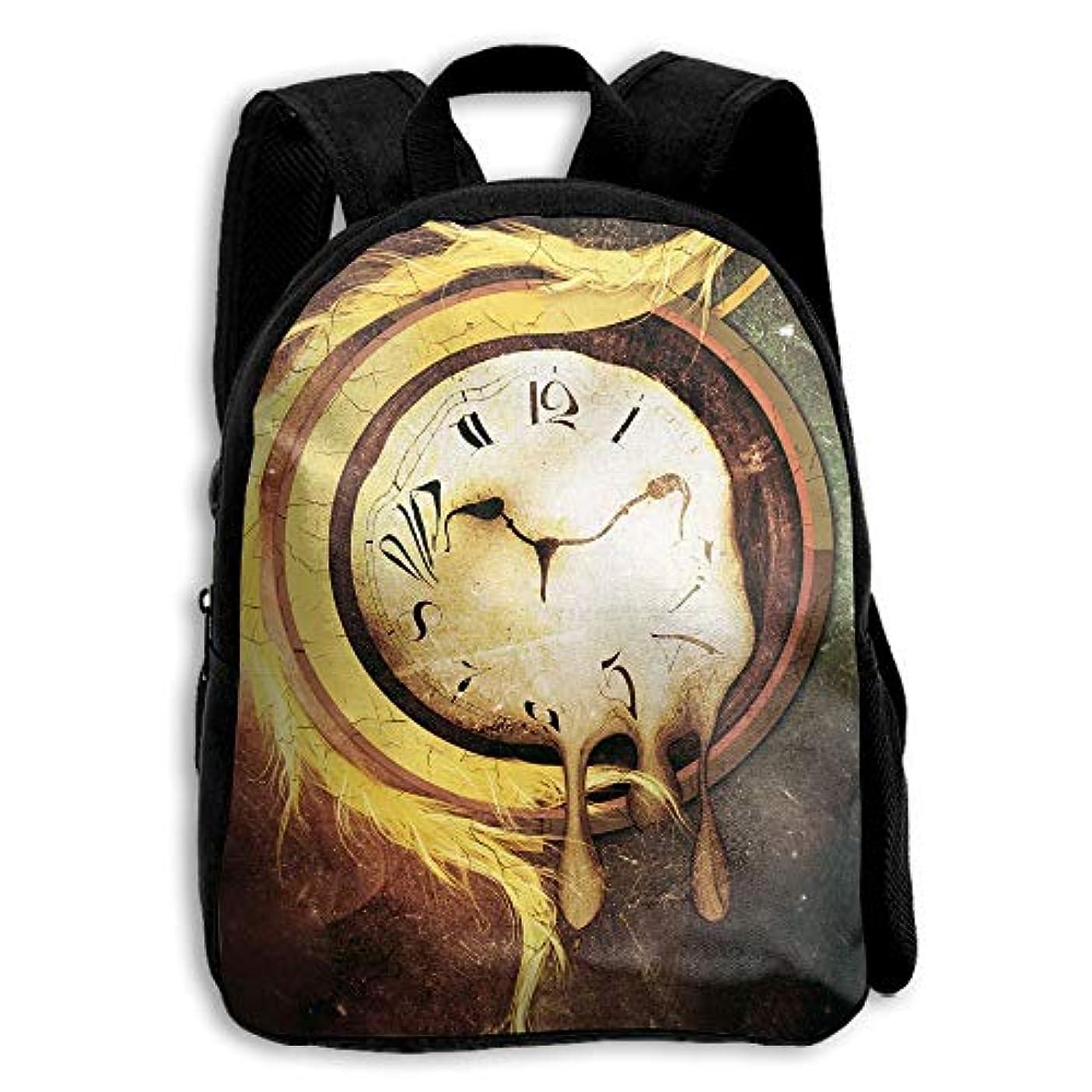 飢導入するメディックキッズ バックパック 子供用 リュックサック 抽象的な時計 ショルダー デイパック アウトドア 男の子 女の子 通学 旅行 遠足
