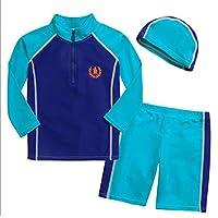 【next.design】子供用 スイムウェア 3点セット おしゃれ キッズ 紫外線カット UP50+ 韓国 子供服 ( 130cm 10T )