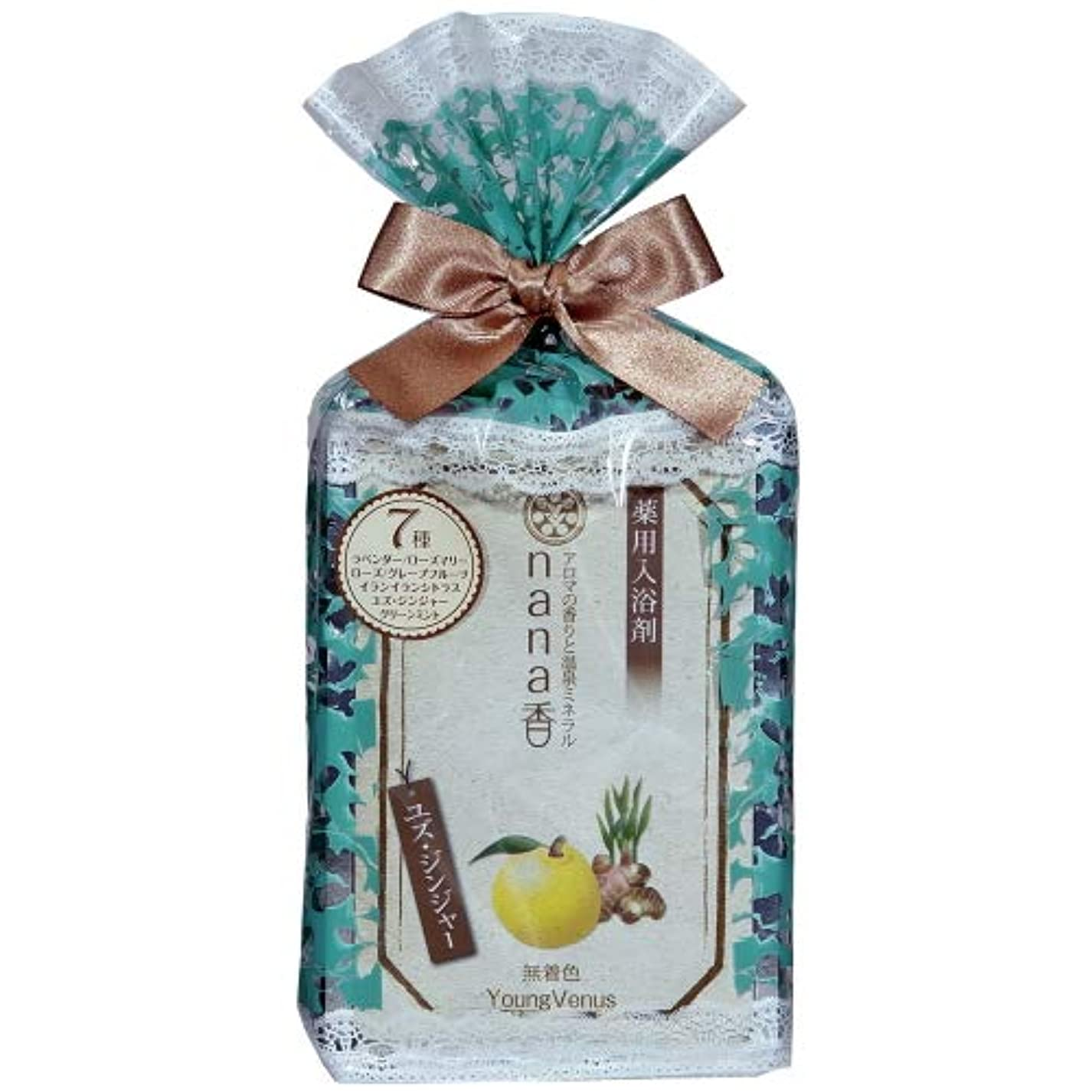 ショップ指紋引用薬用入浴剤 ヤングビーナス nana香シリーズ詰合せ 7袋入り 医薬部外品