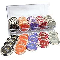 【Bihako】ポーカーチップ カジノチップ 100枚 セット ケース付き 14g 本格プロ仕様