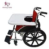 【mamy care】これは使える 便利 で おすすめ 車椅子用 テーブル 肘もラクラク 姿勢も安定 ゆったり広くて軽くて丈夫 使いやすい 車いす 机 (ホワイト)