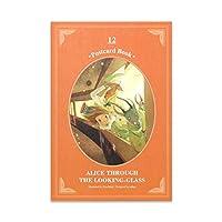 鏡の国のアリス ポストカードブック 12枚セット 100×150×5mm (絵:キム・ミンジ) CLASSIC STORY POSTCARD BOOK VER.3 ALICE THROUGH THE LOOLKING-GLASS