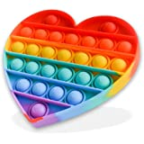 DRST Pop It Rainbow Heart, Push Pop Bubble Fidget Sensory Toy, Stress Relief and Anxiety Bubble Squeeze Toy, Autism Fidget To