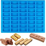 BUSOHA 40 Cavities Chocolate Bars Silicone Mold - Rectangle Caramels Mold for Making Candy Bars, Caramels, Granola Bars, Ice Cube, Dessert, Energy Bar and Praline