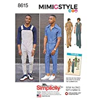 Simplicity Men's Vintage Jumpsuit and Overalls