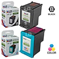 LD ? Remanufactured Replacement Ink Cartridges for Hewlett Packard (HP) C9362WN (HP 92) Black and C9361WN (HP 93) Color (1 Black and 1 Color) [並行輸入品]