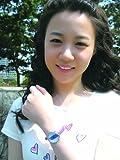 女性用レザー腕時計 アナログ表示 3気圧防水 レザーベルト ブルー LA1085BLU レディース ランツ画像⑤