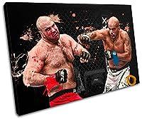 太字ブロックデザイン–MMA Joey BeltranスポーツSingleキャンバスアートプリントボックスフレーム壁吊り下げ–Hand Made In The UK–Framed and ready to hang (C) 75x50cm 13-2176(00B)-SG32-LO-C