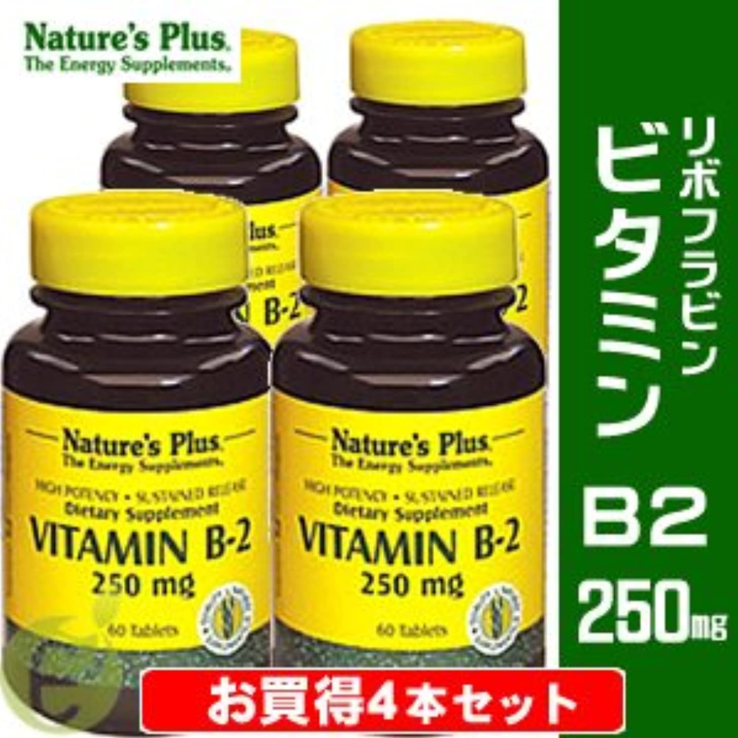 一掃する大統領征服者ビタミンB2 250mg (リボフラビン) 【お買得4本セット】